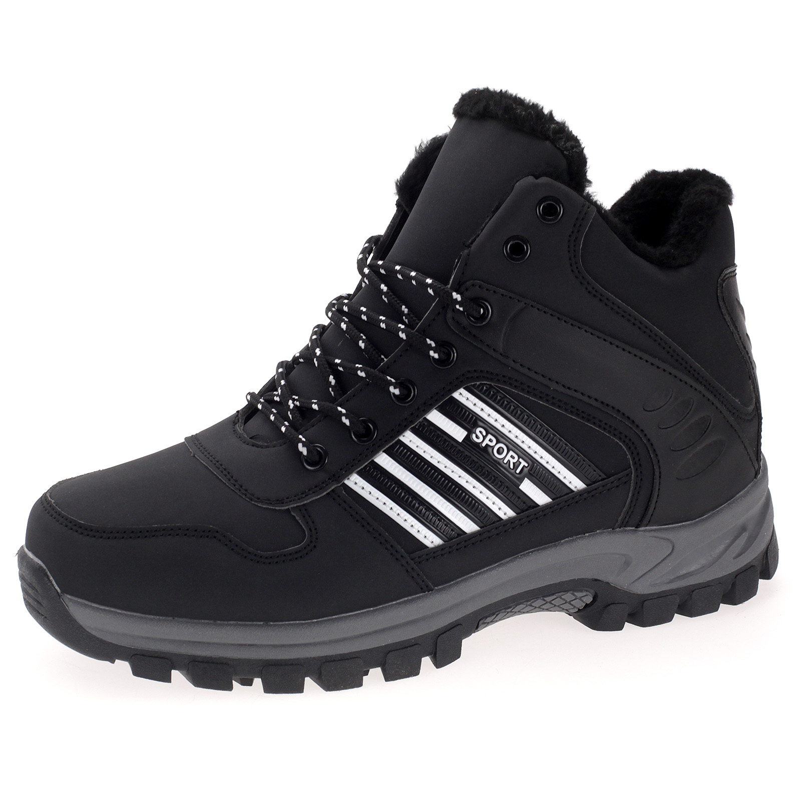 Herren Stiefel Boots Outdoor Wanderschuhe Trekking Winterschuhe Gefüttert ABM5085
