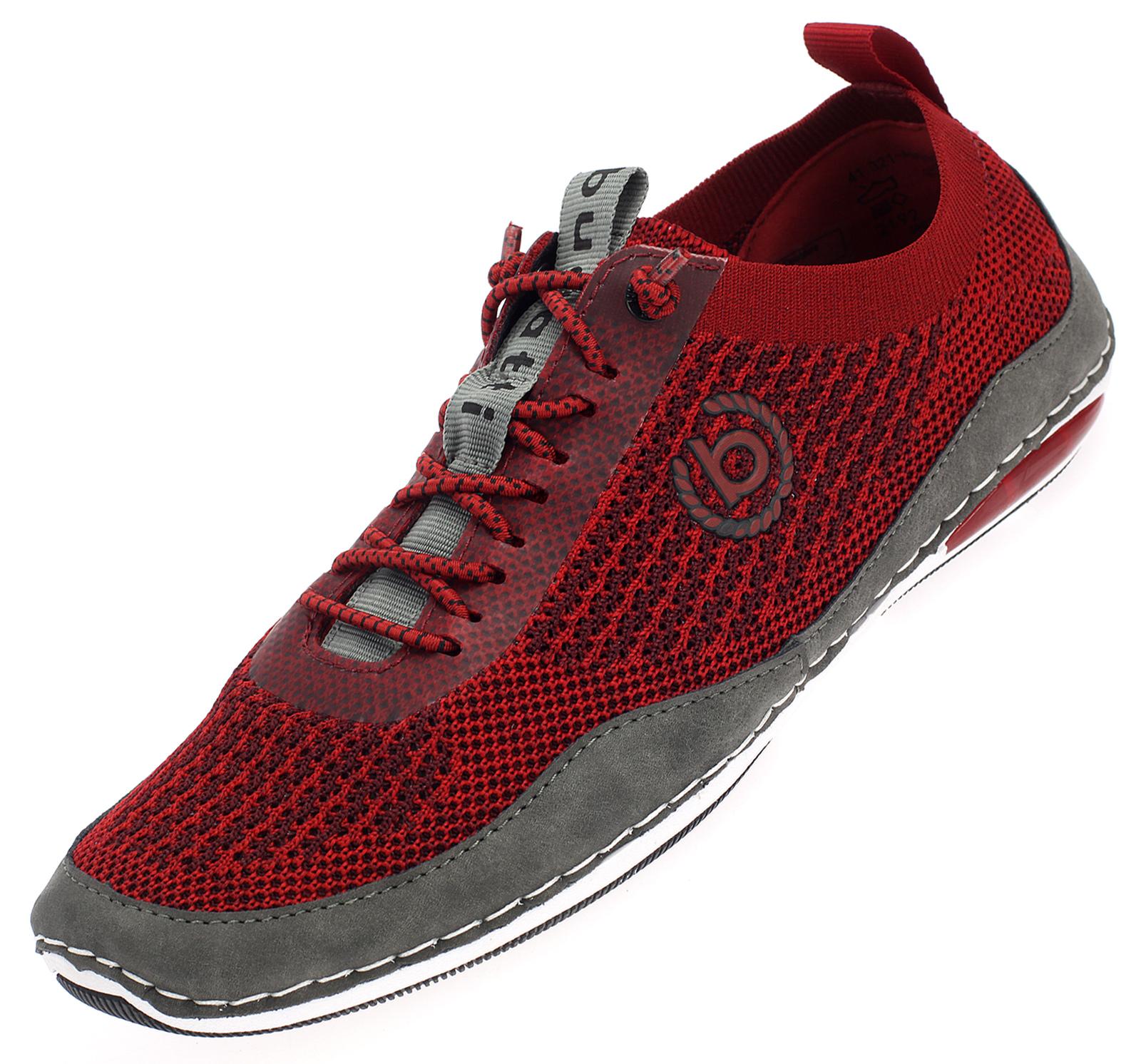 Bugatti Herren Sneaker Slipper Freizeit Schuhe Sommer Halbschuhe weiß rot