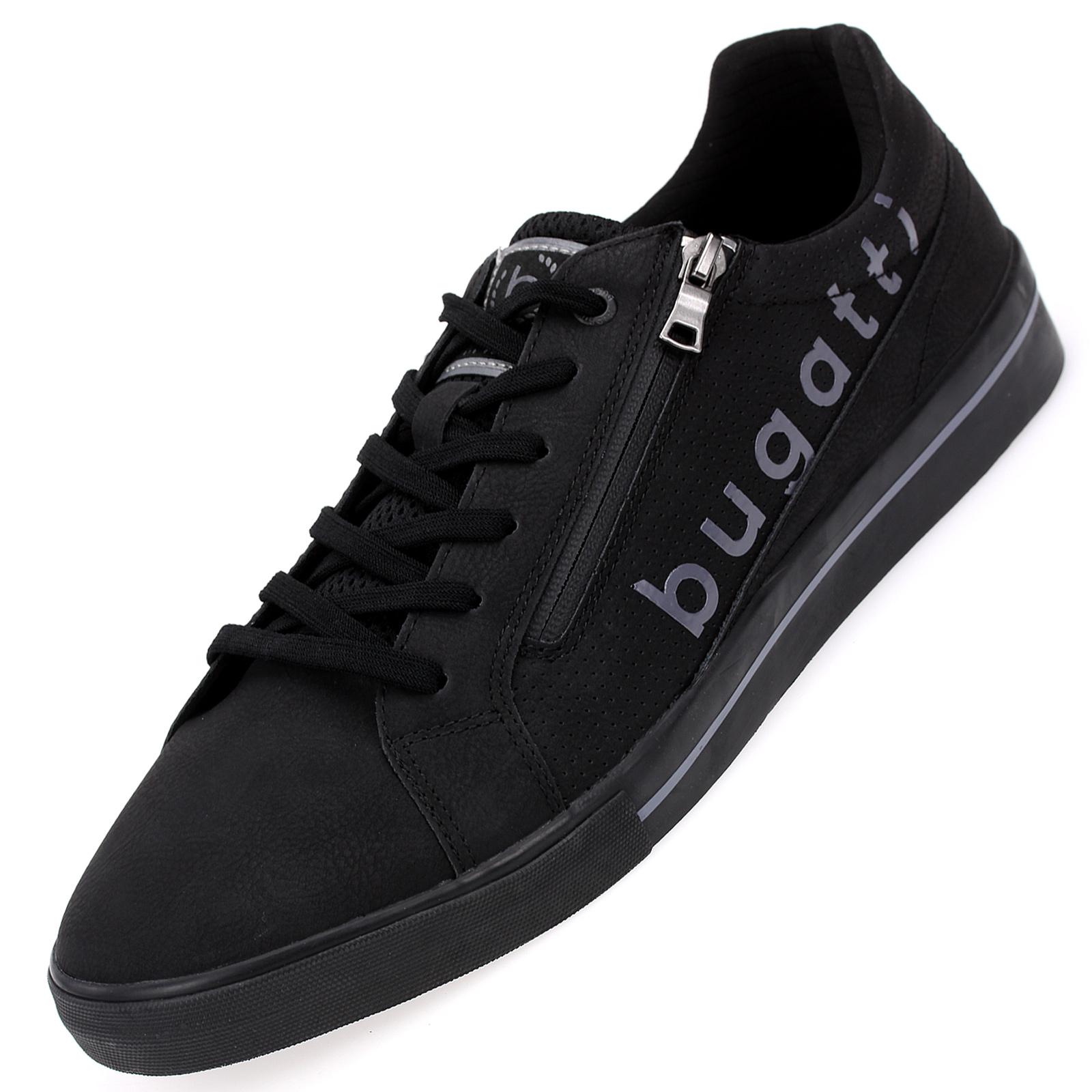Bugatti Herren Low Sneaker in Schwarz