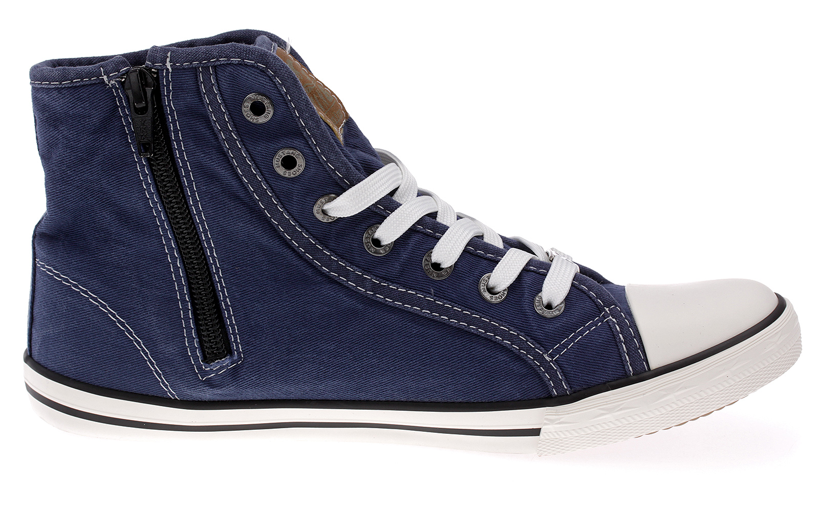 Mustang High Top Sneakers Sportschuhe Stoffschuhe Freizeitschuhe841. jeansblau