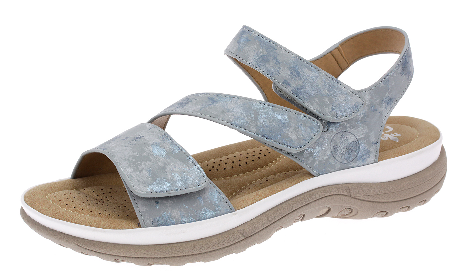 Rieker Sandalette Damen Sandalen Freizeit Sommerschuhe Klettverschluss V8872-12