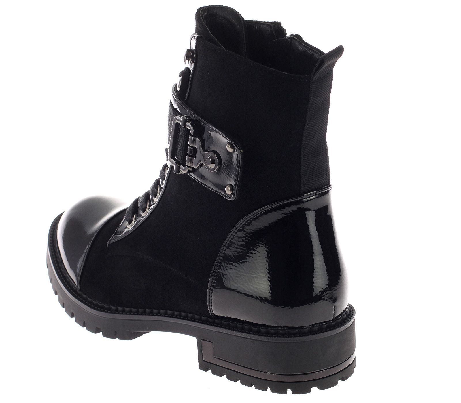 Damen Stiefeletten Boots Gefüttert Schwarz