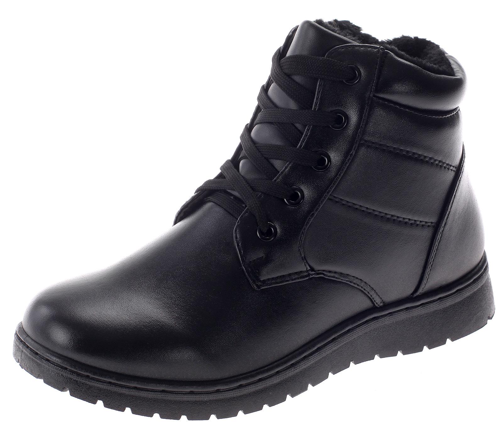 Damen Stiefeletten Winterschuhe Stiefel Warm gefütterte Schuhe Boots Booty KF01