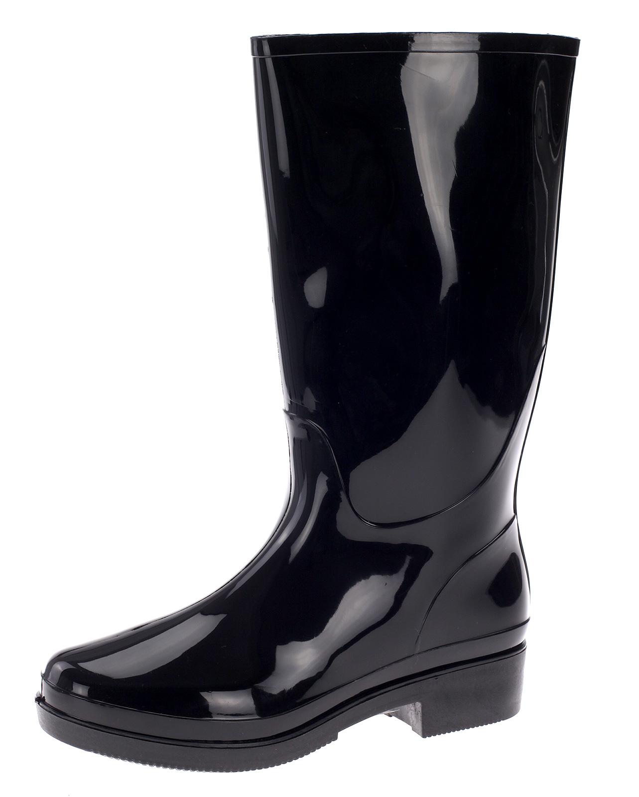 Damen Gummistiefel Regenstiefel Gummischuhe Lack Stiefel Stiefelette Boots HM-23