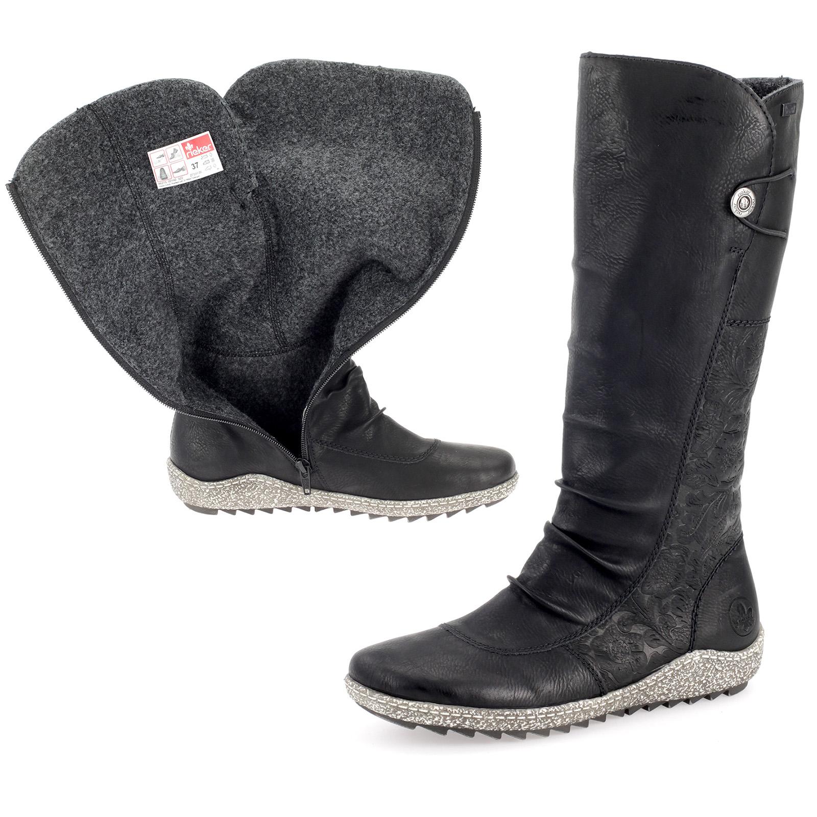 Rieker TEX Damenschuhe Stiefel Gefüfutterte Schuhe Boot Schwarz Z7591-00