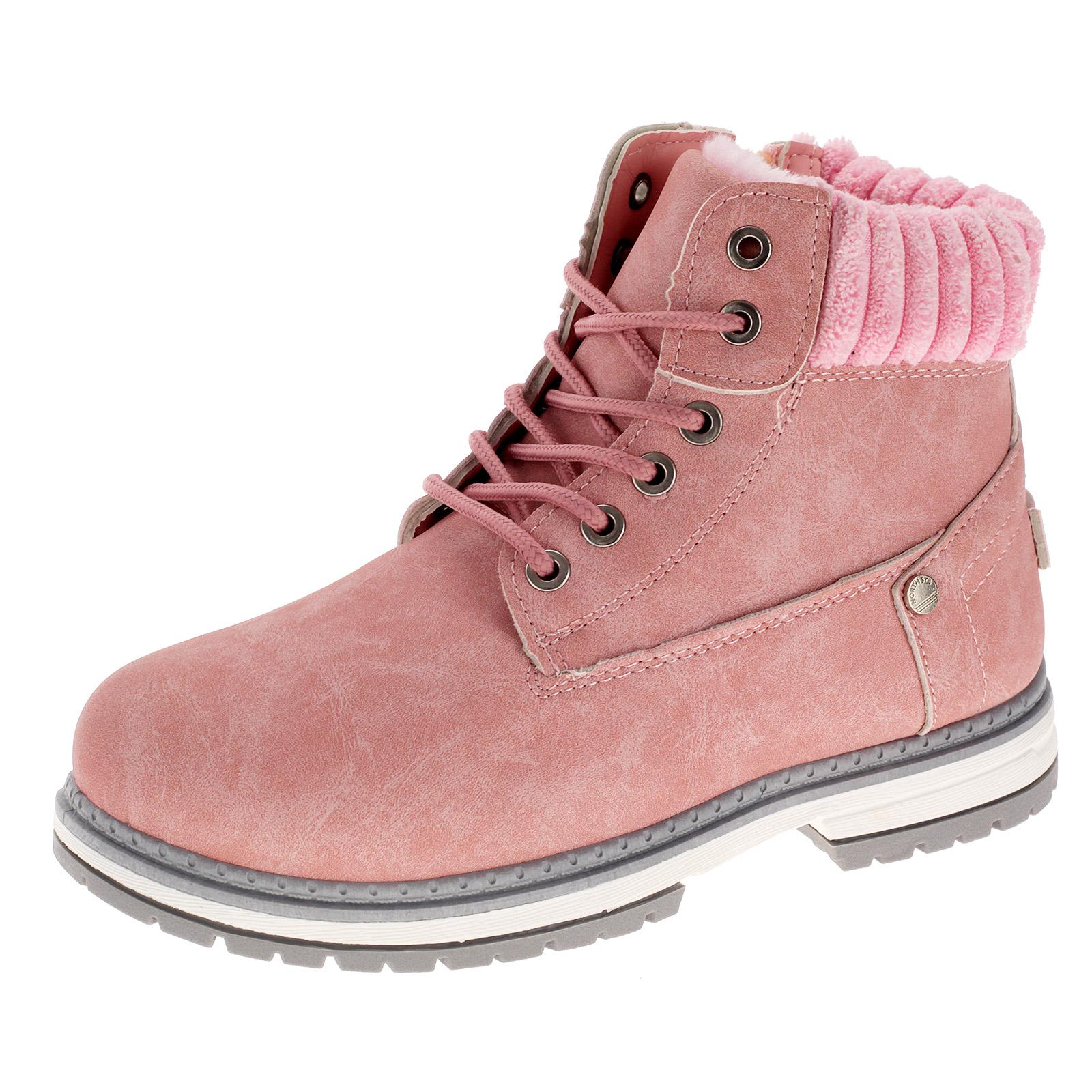 Damen Stiefeletten Gefütterte Winterschuhe Boots Stiefel Booty Schuhe Warmfutter LS02 LS10 LS12