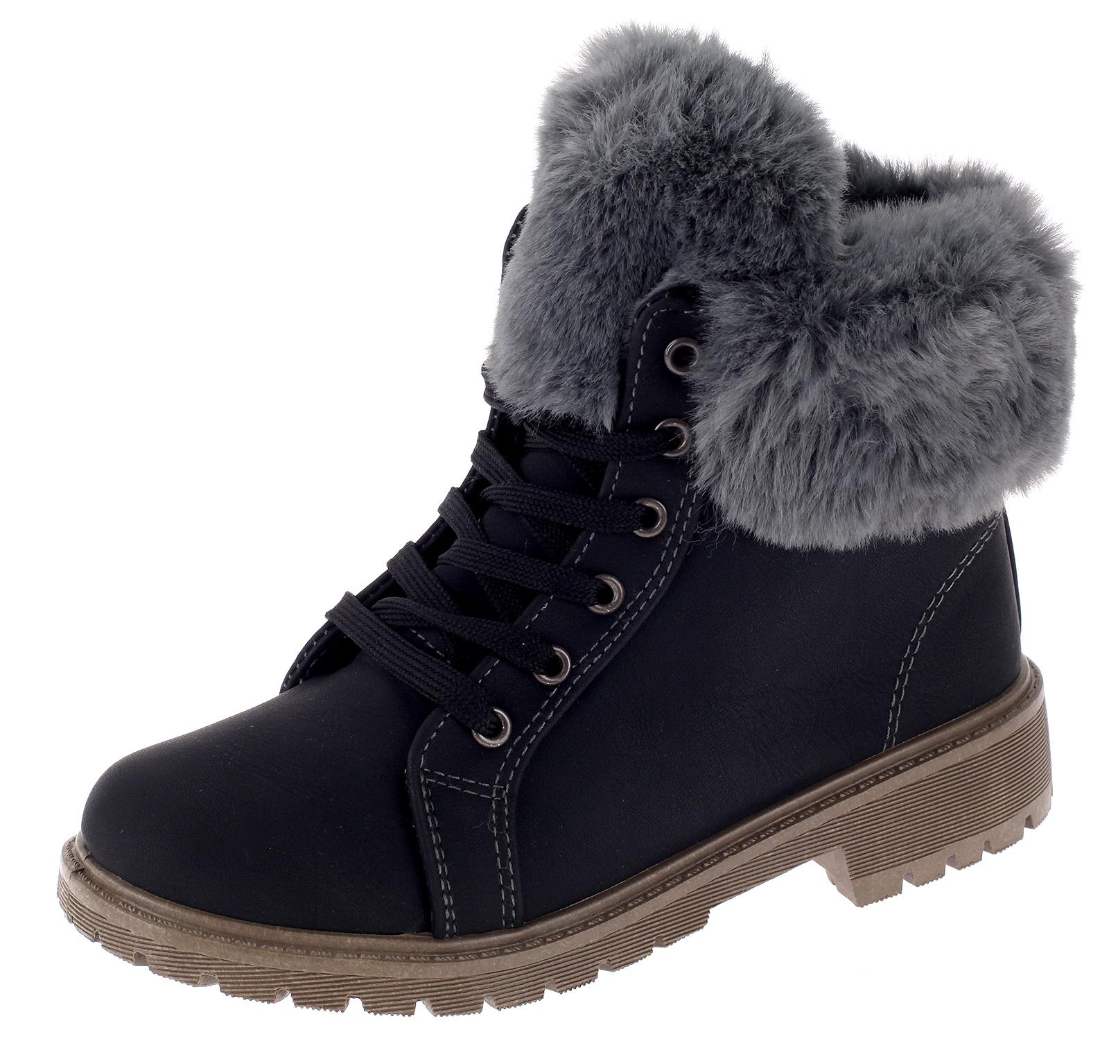 Mädchen Boots Stiefel Stiefeletten Winterboots Gefütterte Kinderschuhe 3129