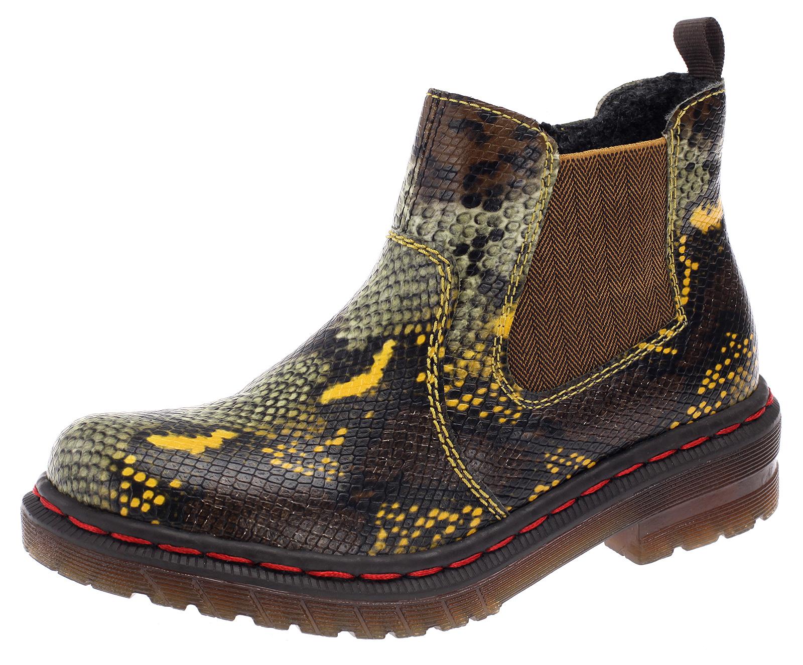 Damen Chelsea Boots Rieker Stiefeletten Stiefel Gefütterte Schuhe 76264-90