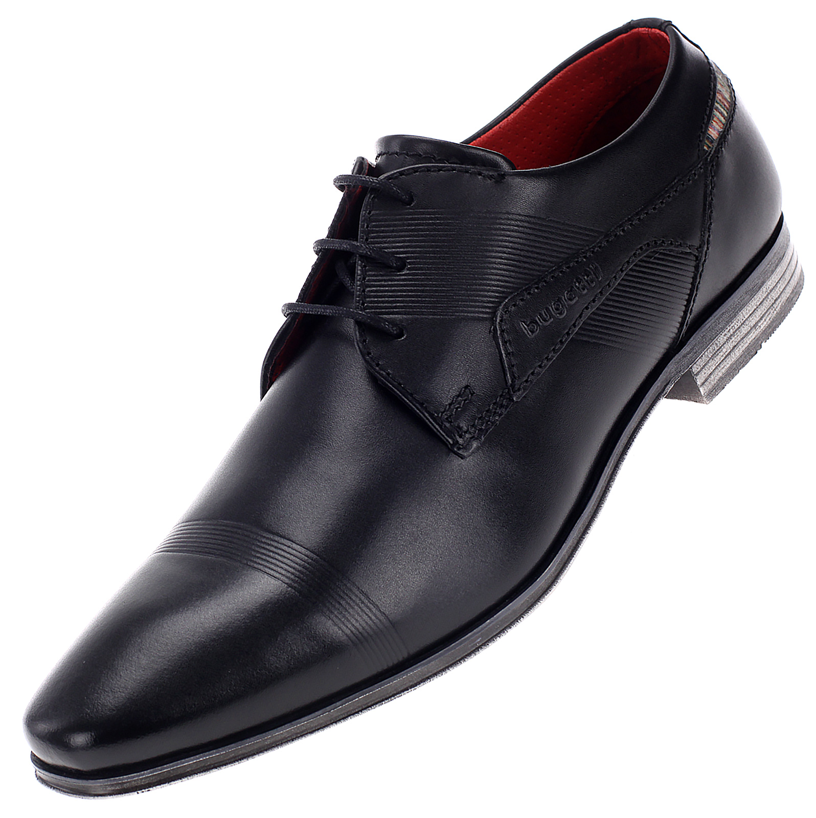 Bugatti Herren Business Schuhe Halbschuhe Derbys Leder Schnürschuh 42008 Schwarz