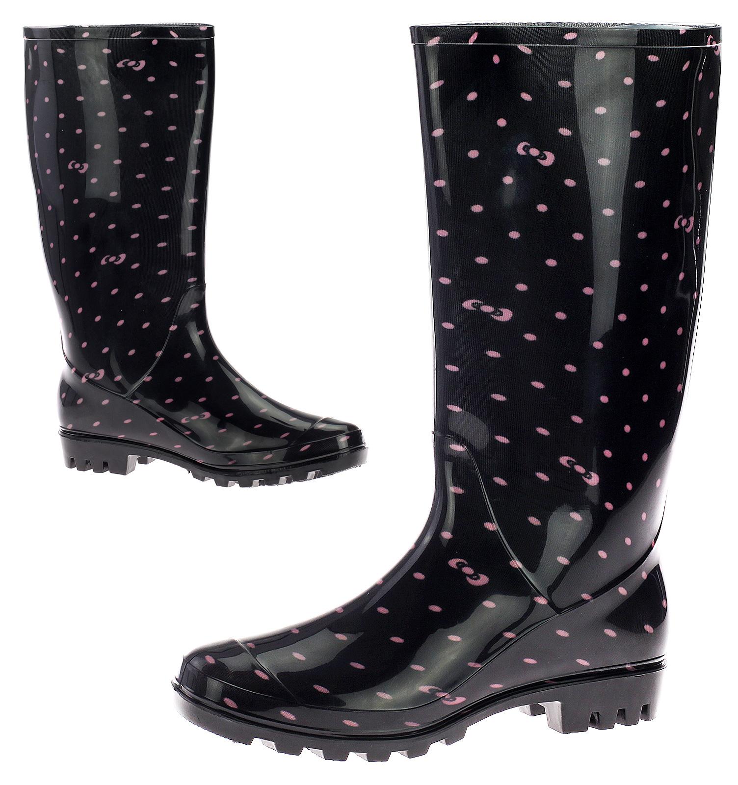 Damen Gummistiefel Regenstiefel Gummischuh Stiefel Stiefelette Profilsohle