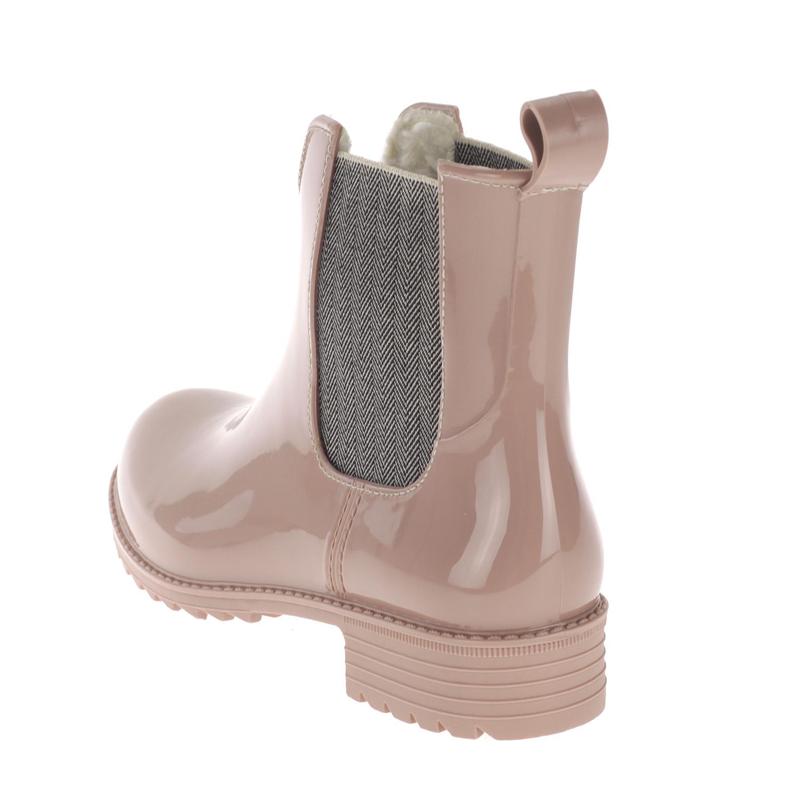 Rieker Damen Chelsea Boots Gummistiefel Gefüttert Rosa P8280-31