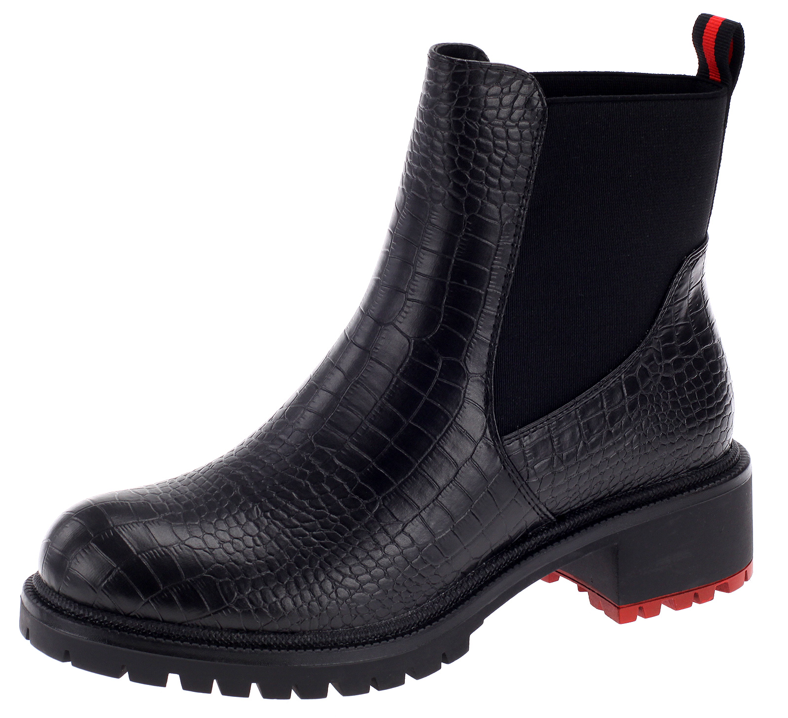 Damen Chelsea Boots Stiefeletten Stiefel