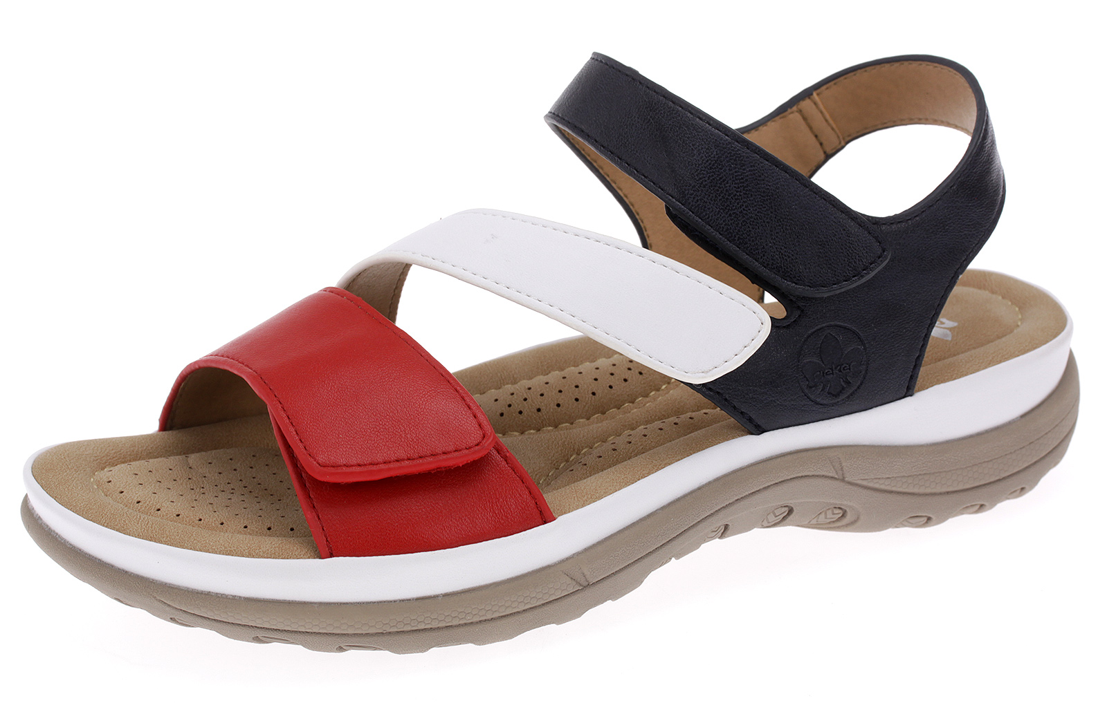 Rieker Sandalette Damen Sandalen Freizeit Sommerschuhe Klettverschluss