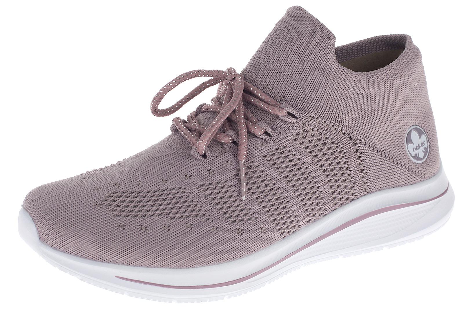 Rieker Damen Sneaker Socken Schuhe Slip Ons Sportschuhe Freizeit Schuhe Lila