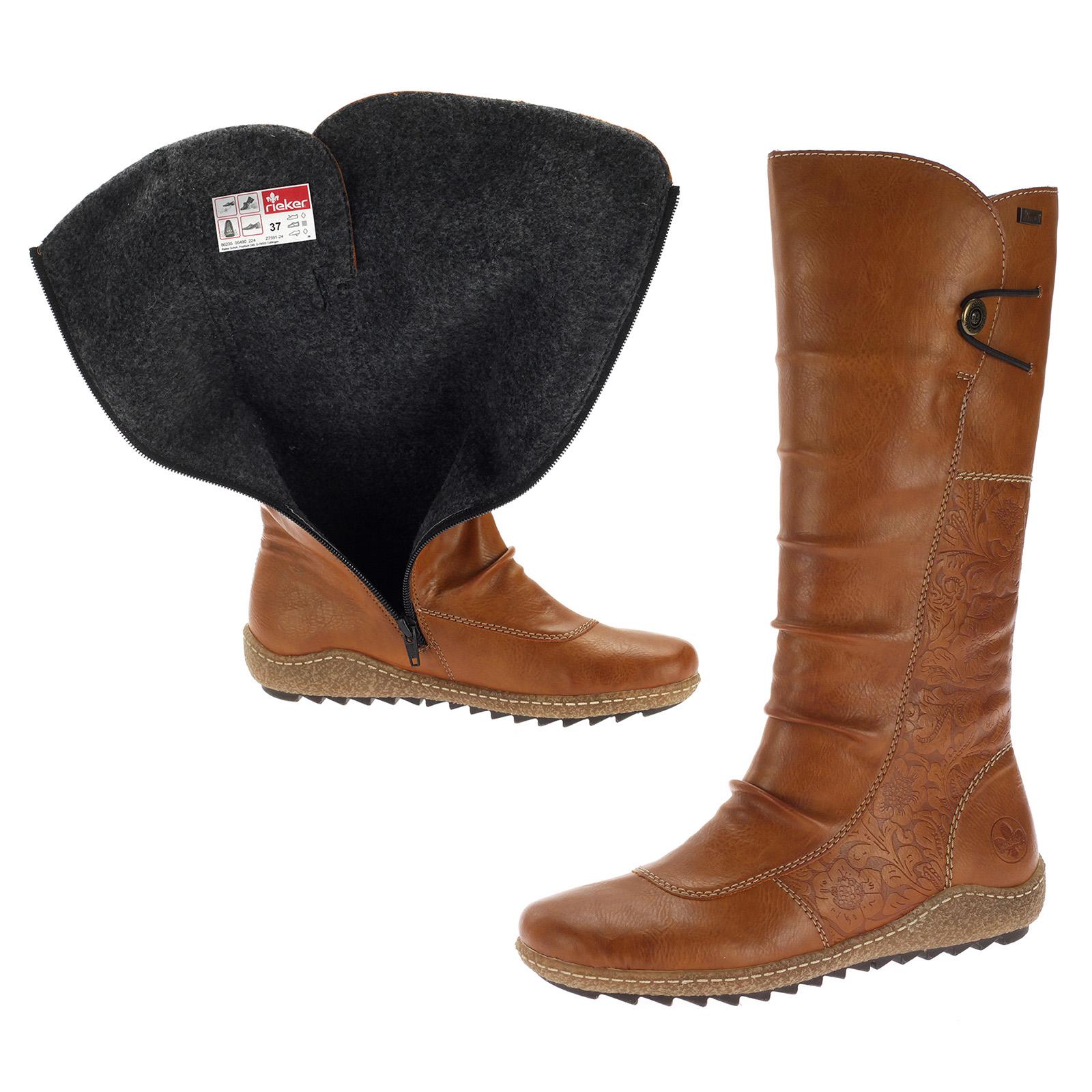 Rieker TEX Damenschuhe Stiefel Gefüfutterte Schuhe Boot Braun Z7591-24